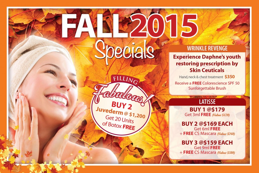 Jupiter Dermatology Fall Specials 2015